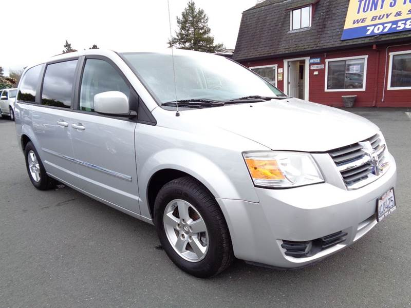 2008 DODGE GRAND CARAVAN SXT EXTENDED MINI VAN 4DR silver stow-n-go seating 2-stage unloc