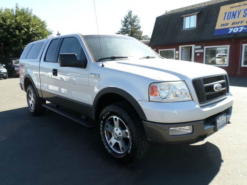 2004 FORD F-150 FX4 4DR SUPERCAB 4WD STYLESIDE 5 silver new tires4wd 4wd type - p