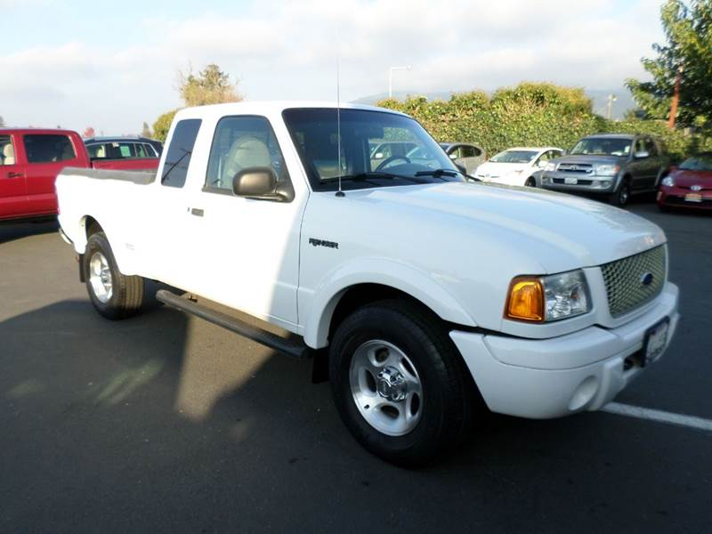 2001 FORD RANGER EDGE 4DR SUPERCAB 4WD SB white low miles 4x4 1 owner abs - 4-wheel anti-theft s