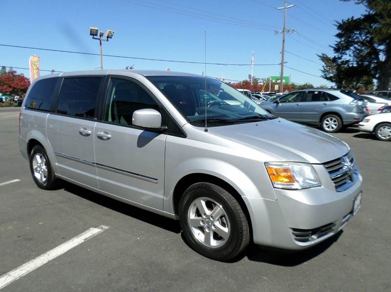 2008 DODGE GRAND CARAVAN SXT EXTENDED MINI VAN 4DR silver stow-n-go seating7 pass 2-stag