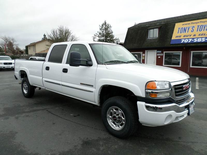 2006 GMC SIERRA 2500HD SLE1 4DR CREW CAB LB white only 100472 miles long bed crew cab ne