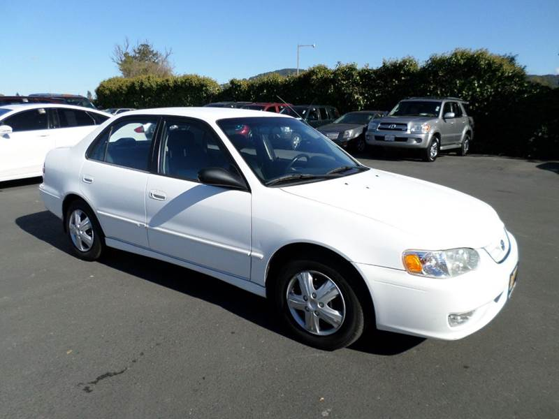 2001 TOYOTA COROLLA S 4DR SEDAN white 4-speed automatic transmission center console daytime run
