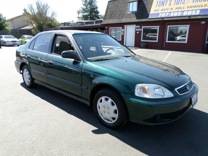 2000 HONDA CIVIC LX 4DR SEDAN green new tires 2432 mpg center console cruise contro