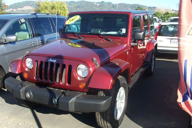 2007 JEEP WRANGLER UNLIMITED UNLIMITED SAHARA 4WD red 4wdawdair conditioningalloy wheelsamfm