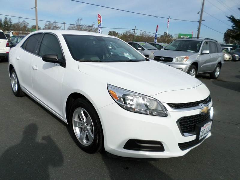2014 CHEVROLET MALIBU LS 4DR SEDAN white one owner vehicle 2-stage unlocking doors abs -