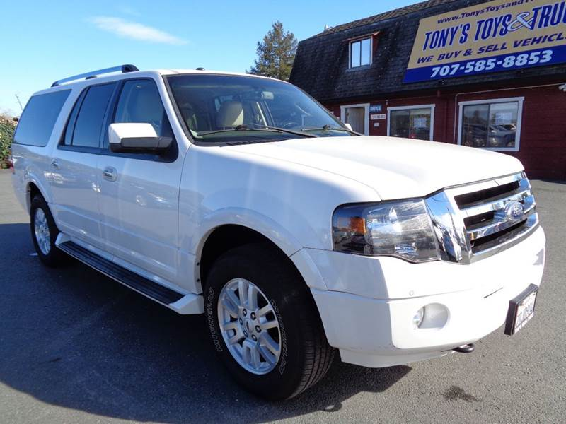 2013 FORD EXPEDITION EL LIMITED 4X4 4DR SUV white limitednew tires3rd row seating