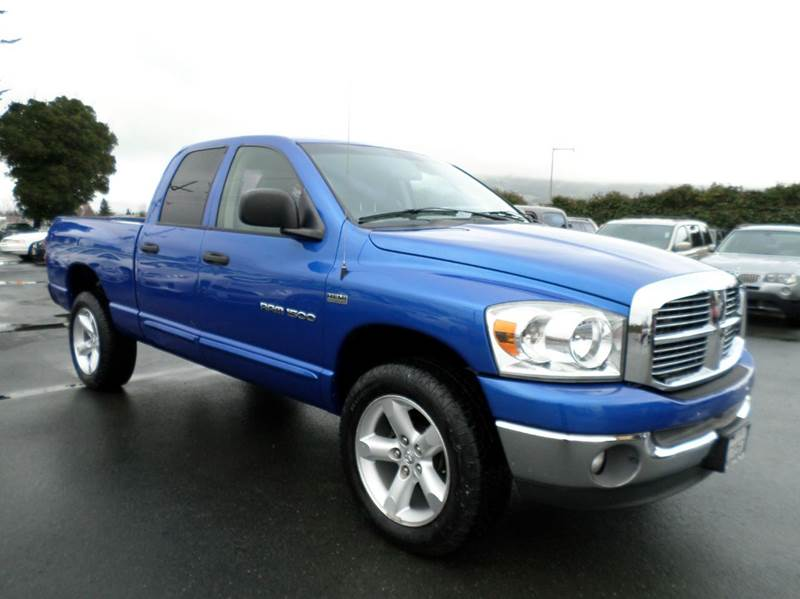 2007 DODGE RAM PICKUP 1500 SLT 4DR QUAD CAB 4WD LB blue 57 hime 4x4 2-stage unlocking