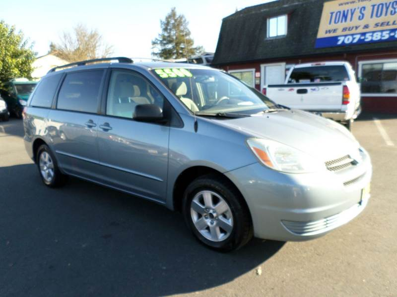 2004 TOYOTA SIENNA LE 7 PASSENGER 4DR MINI VAN lt blue new tires one owner abs - 4-wheel