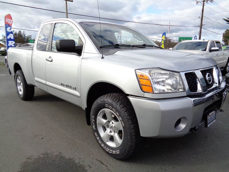 2007 NISSAN TITAN SE 4DR KING CAB 4WD SB silver new tires ext cab 4x4
