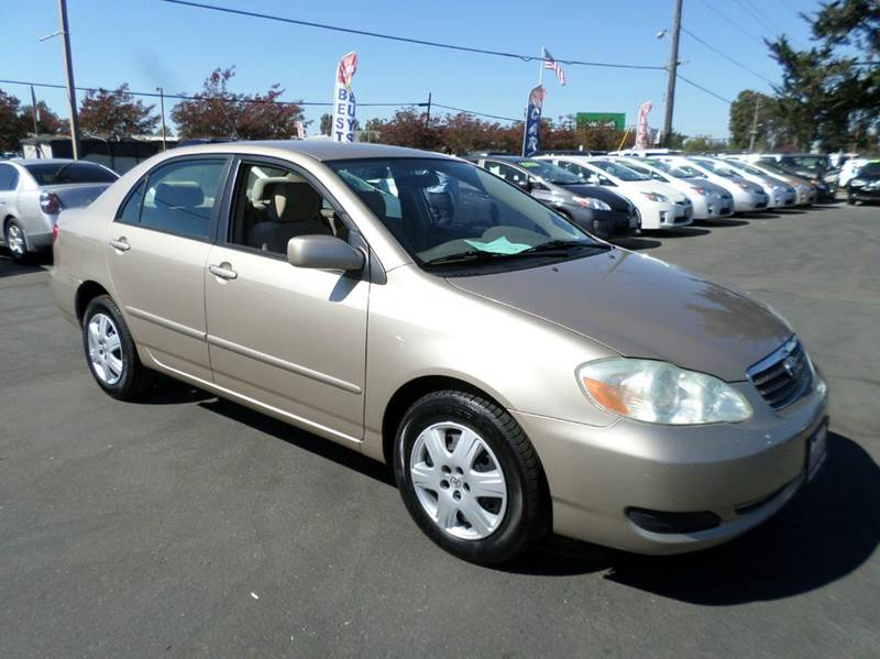 2006 TOYOTA COROLLA LE 4DR SEDAN WAUTOMATIC gold 2635 mpg automatic air filtration ante