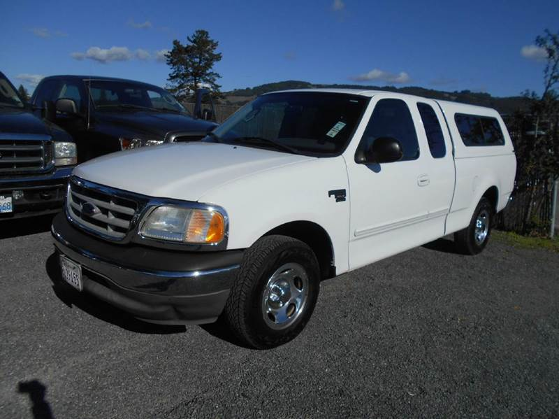 2003 FORD F-150 XLT 4DR SUPERCAB RWD STYLESIDE S white low mileageclean truck abs - 4-wheel