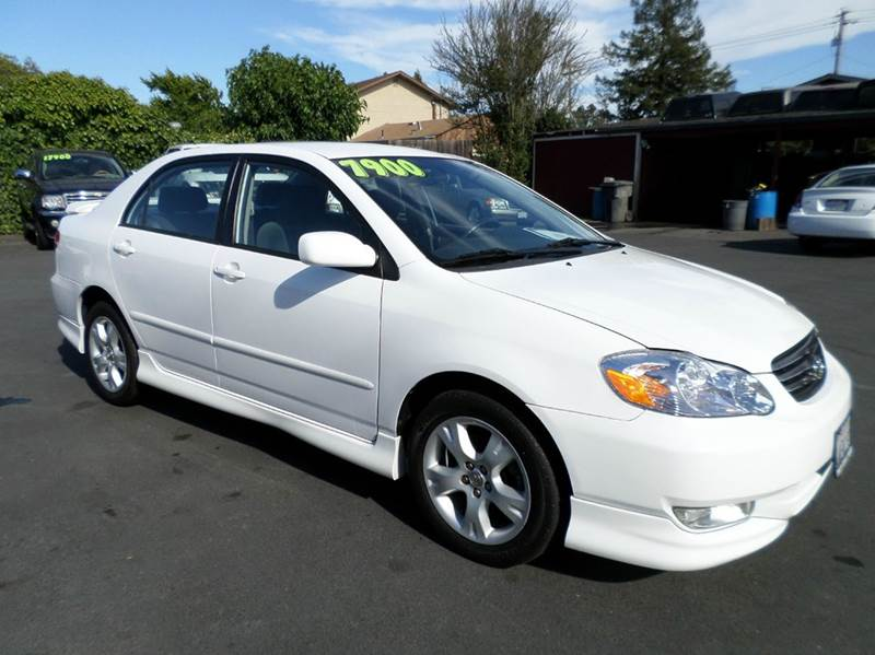 2003 TOYOTA COROLLA S 4DR SEDAN white 4-speed automatic transmission alloy wheels center consol