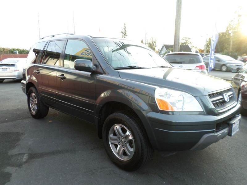 2005 HONDA PILOT EX-L 4DR 4WD SUV WLEATHER AND N gray one owner vehicle 3rd row seating