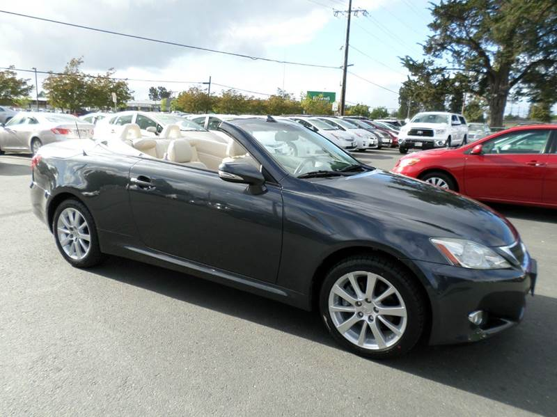 2010 LEXUS IS 250C BASE 2DR CONVERTIBLE 6A gray only 32878 miles abs - 4-wheel air fi