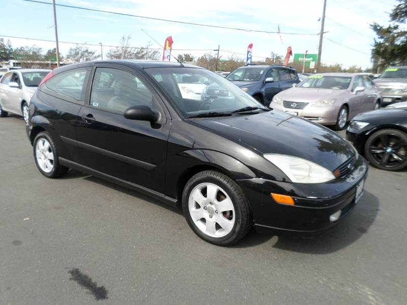 2002 FORD FOCUS ZX3 2DR HATCHBACK black manual 5-speed anti-theft system - alarm clock front ai
