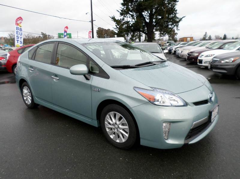 2014 TOYOTA PRIUS PLUG-IN HYBRID ADVANCED 4DR HATCHBACK lt green one owner vehicle plug in