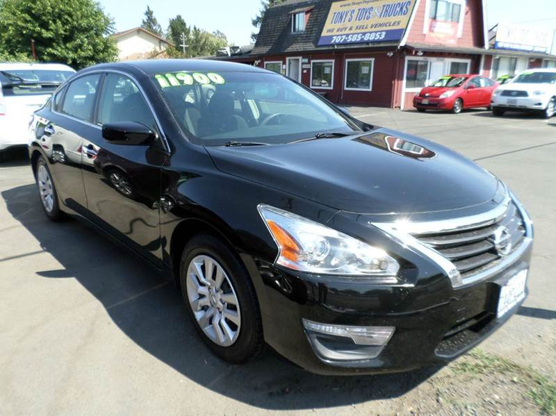 2013 NISSAN ALTIMA 25 S 4DR SEDAN black clean vehicle4cyl2738mpg 2-stage unlockin