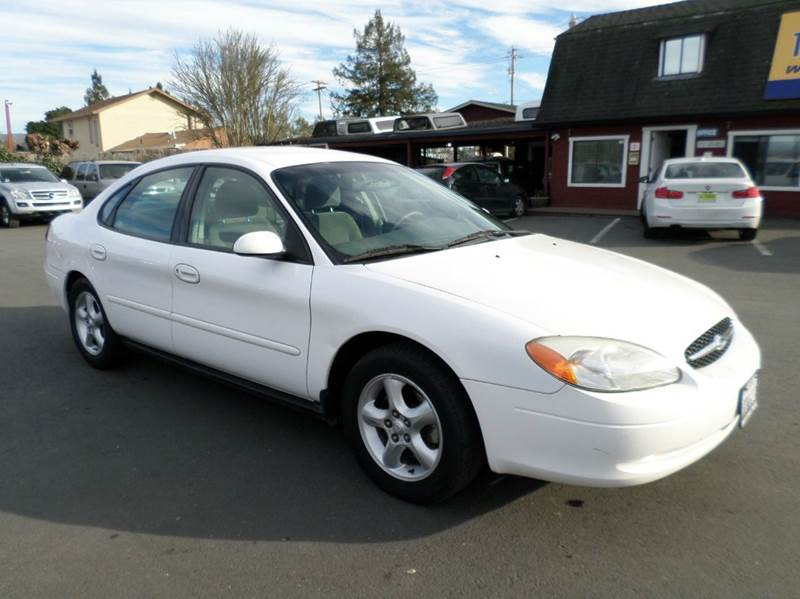 2001 FORD TAURUS SES 4DR SEDAN white new tires abs - 4-wheel anti-theft system - alarm cass