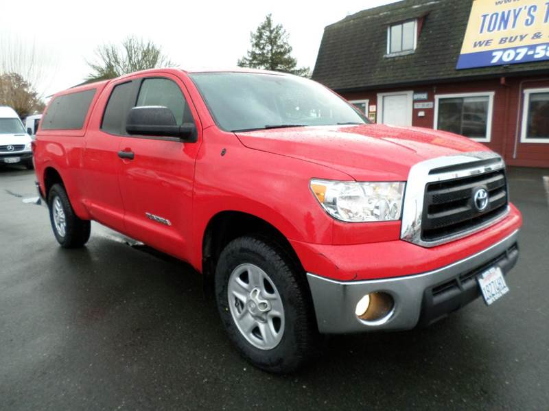 2013 TOYOTA TUNDRA GRADE 4X4 4DR DOUBLE CAB PICKUP red crew cab4 x4one owner truck