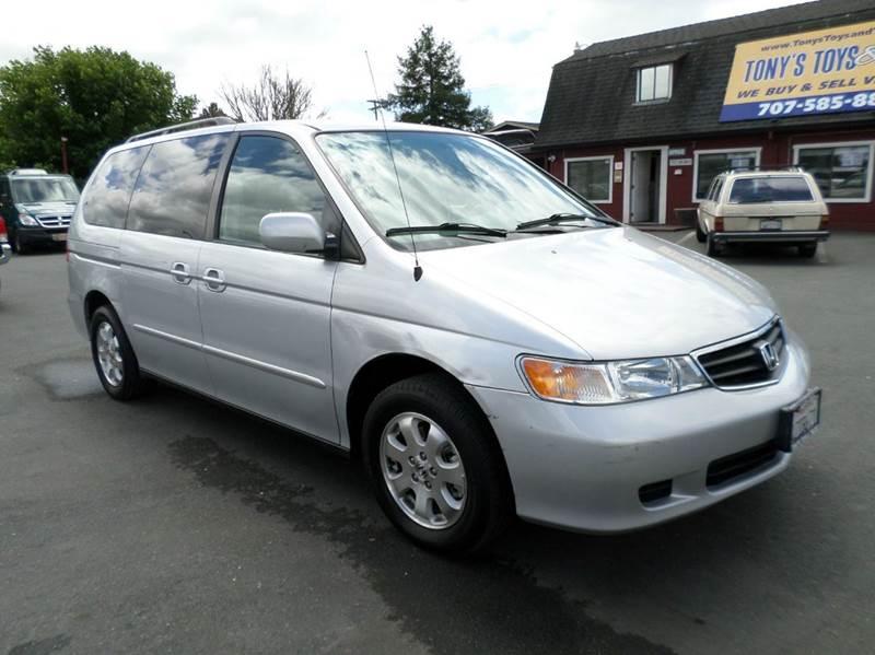 2002 HONDA ODYSSEY EX 4DR MINI VAN silver one owner minivan only 101525 miles7 passa