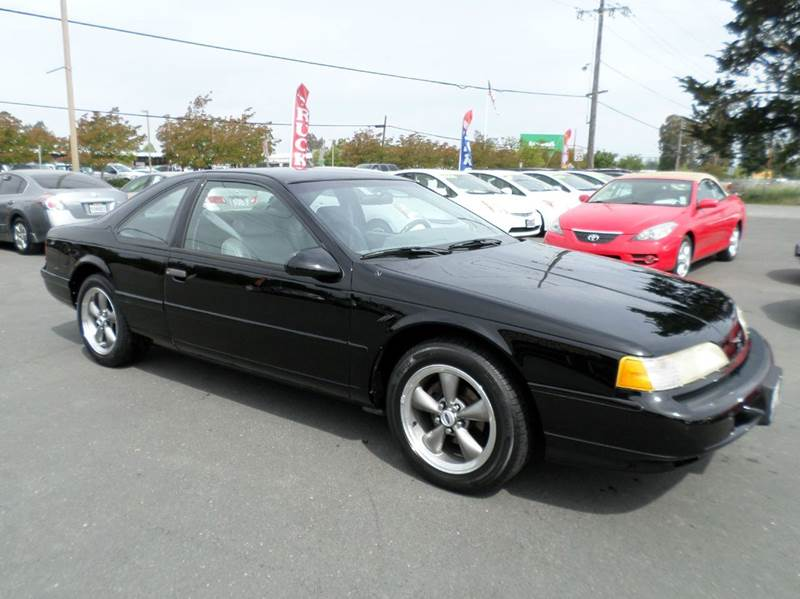 1993 FORD THUNDERBIRD LX 2DR COUPE black only 60141 milesclean carfax cassette ce