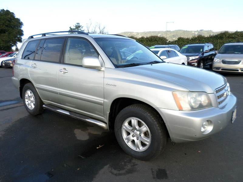 2003 TOYOTA HIGHLANDER LIMITED AWD 4DR SUV silver one owner vehicle new tires abs - 4-whe