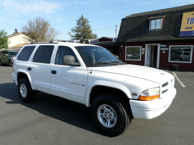 2000 DODGE DURANGO SLT 4DR 4WD SUV white 1 owner abs - rear axle ratio - 355 cassette center