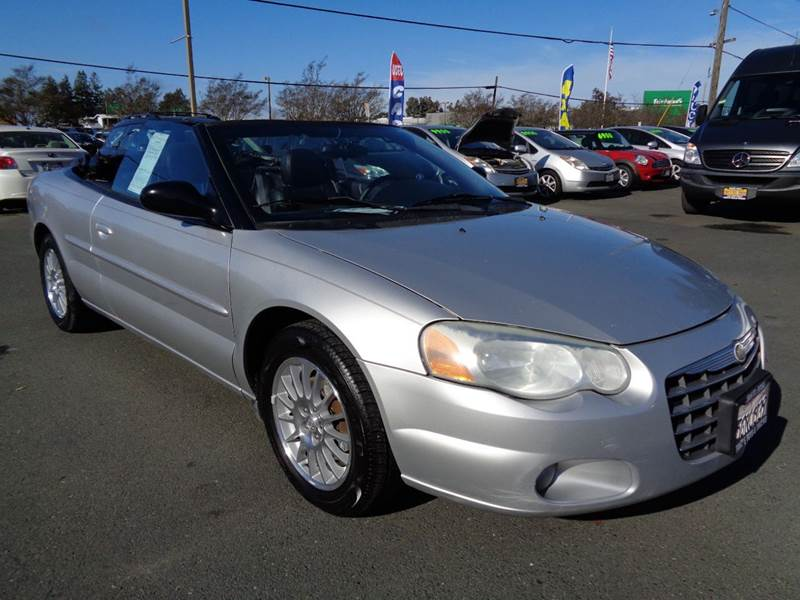 2004 CHRYSLER SEBRING TOURING 2DR CONVERTIBLE silver 4-wheel abs amfm radio center console cl