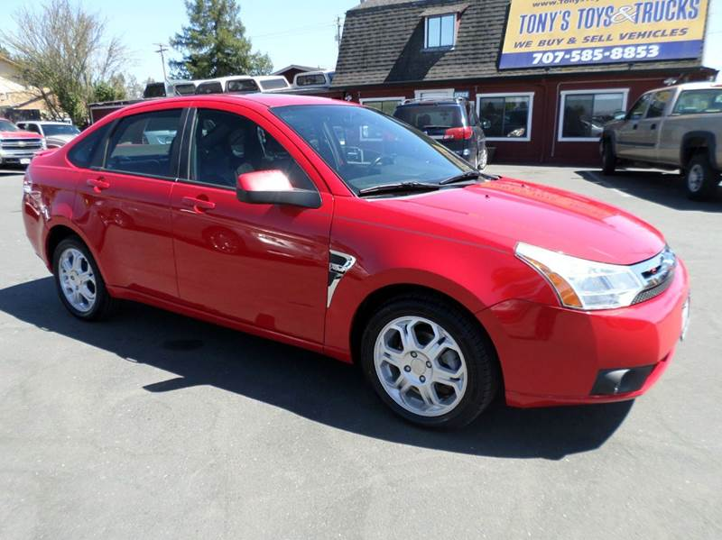 2008 FORD FOCUS SES 4DR SEDAN red 2433 mpg new tires 2-stage unlocking doors airbag dea