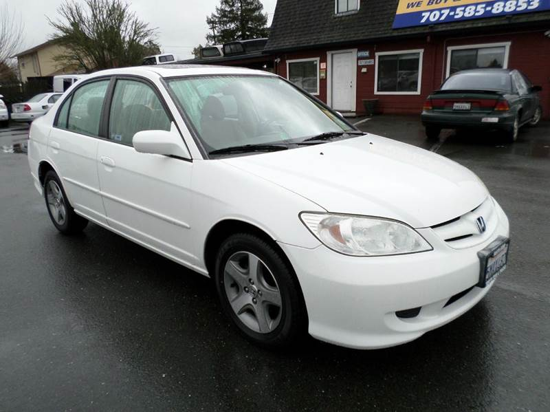 2005 HONDA CIVIC EX 4DR SEDAN white one owner vehicle new tires abs - 4-wheel air f
