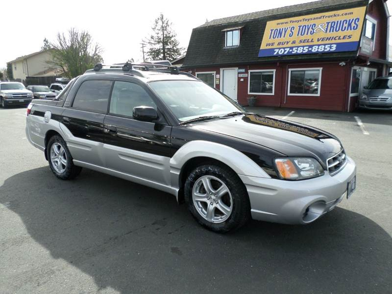 2003 SUBARU BAJA BASE AWD 4DR CREW CAB SB blacksilver abs - 4-wheel axle ratio - 411 center c