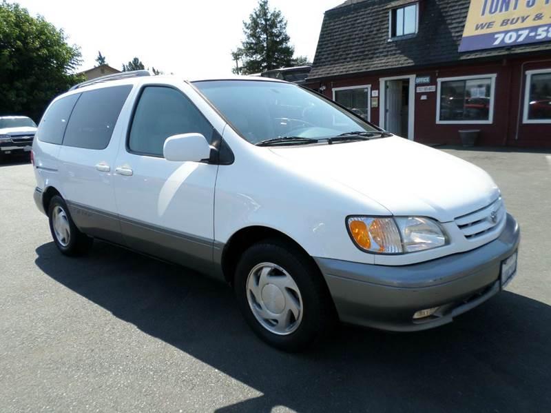 2001 TOYOTA SIENNA XLE 4DR MINI VAN white xle pckonly 125433 miles one ownerti