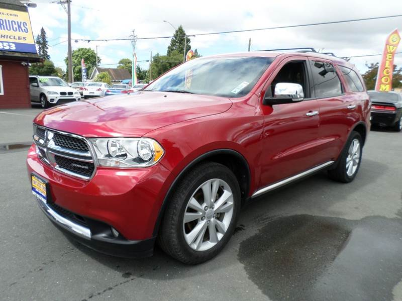 2011 DODGE DURANGO CREW AWD 4DR SUV red 2-stage unlocking doors 4wd type - full time abs - 4-whe