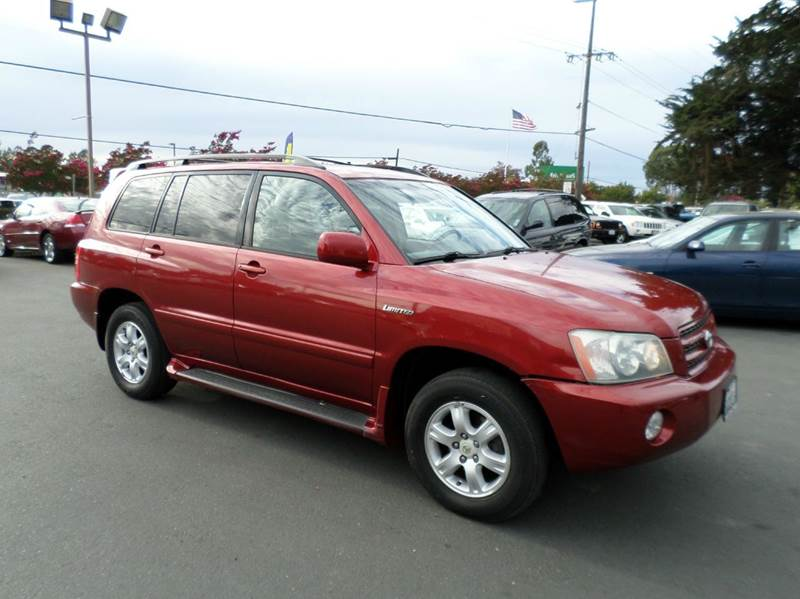2003 TOYOTA HIGHLANDER LIMITED AWD 4DR SUV burgandy new tires timming service done abs -