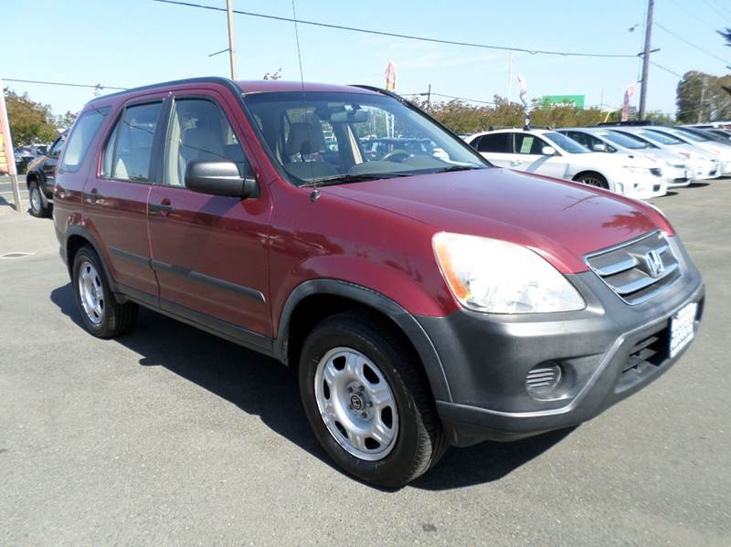 2005 HONDA CR-V LX AWD 4DR SUV burgandy one owner vehicleawd 4wd type - on demand