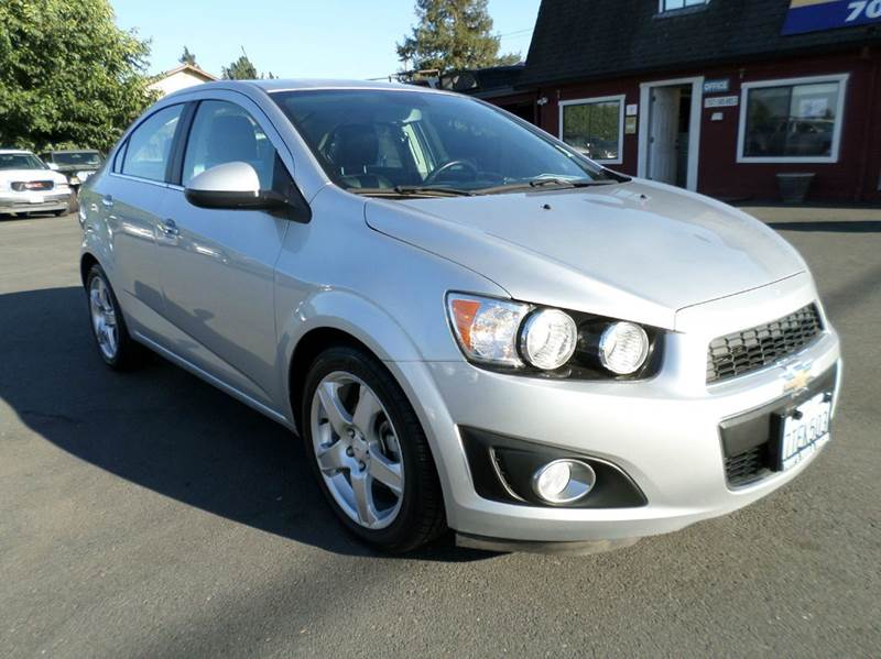 2012 CHEVROLET SONIC LTZ 4DR SEDAN W2LZ silver new tires one owner vehicle abs - 4-