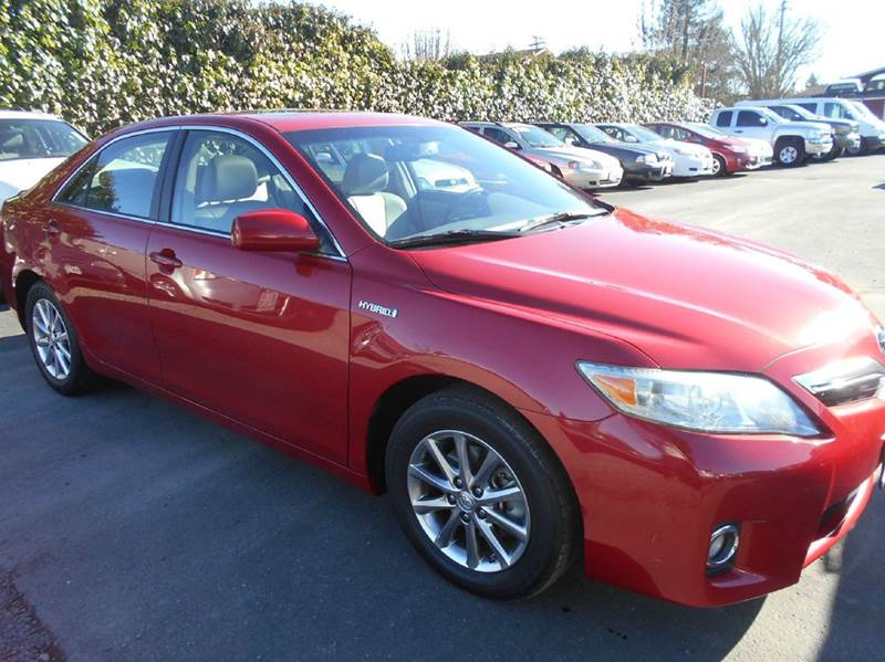 2011 TOYOTA CAMRY HYBRID 4DR SEDAN red new tires abs - 4-wheel air filtration airbag deactivati
