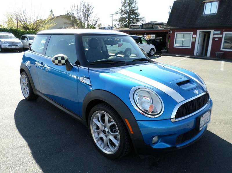 2008 MINI COOPER S 2DR HATCHBACK blue manual 6sp pano roof 2-stage unlocking door