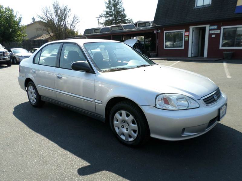 2000 HONDA CIVIC VP 4DR SEDAN silver new tirestiming belt  water pump done already cent