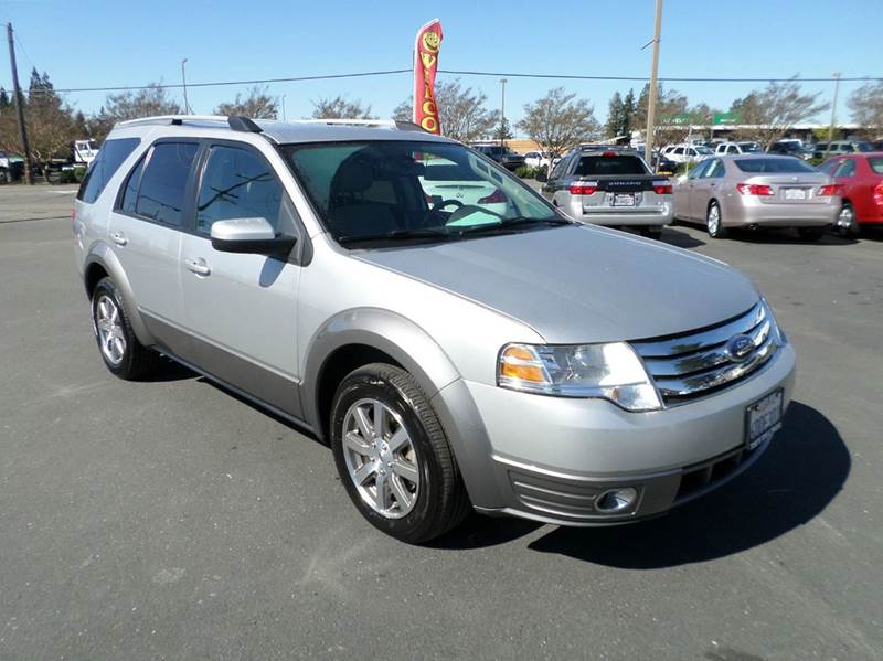 2009 FORD TAURUS X SEL 4DR WAGON silver 3rd row seating abs - 4-wheel active head restraints