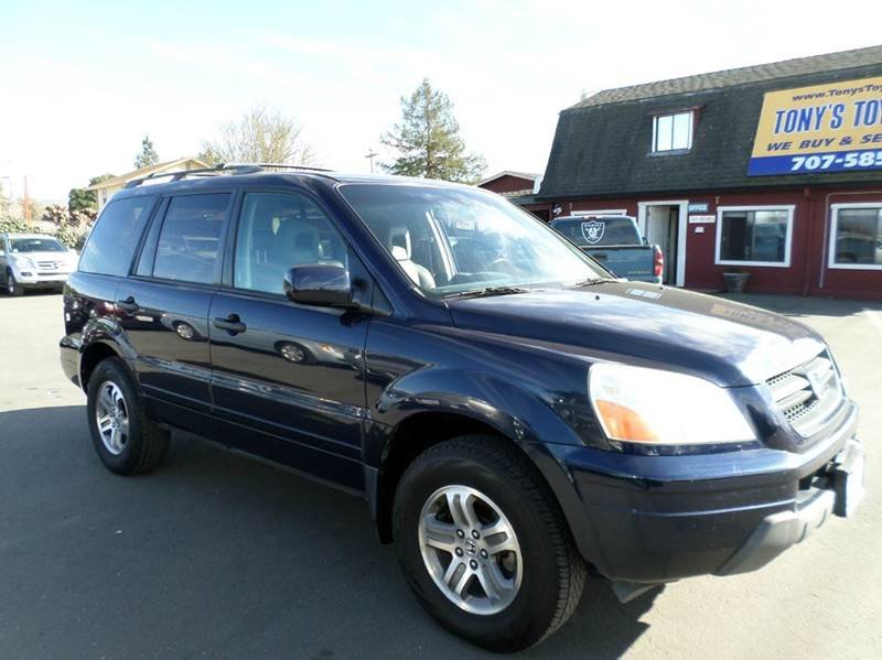 2004 HONDA PILOT EX-L 4DR 4WD SUV WLEATHER blue 4wd type - on demand abs - 4-wheel anti-theft