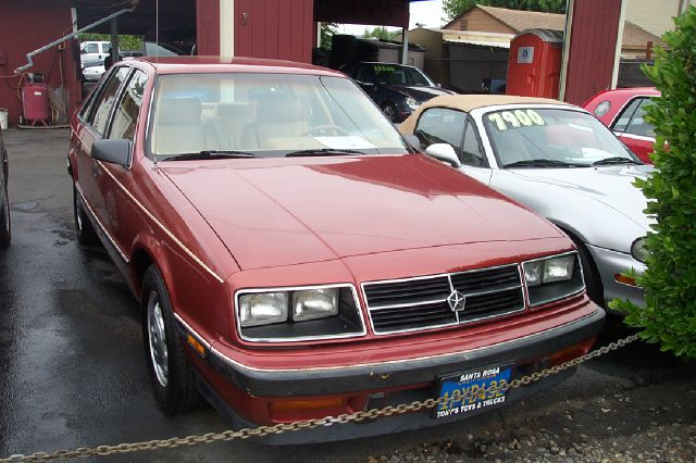1985 DODGE LANCER ES 4DR HATCHBACK red super low miles clean carfax center console clock digital