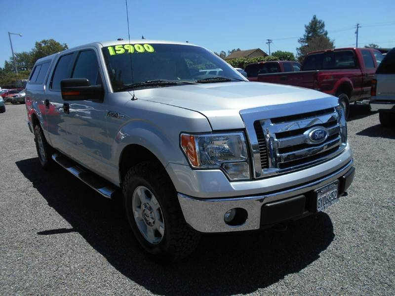 2010 FORD F-150 XLT 4X4 4DR SUPERCREW STYLESIDE silver one owner truck 2-stage unlocking