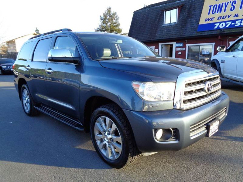 2008 TOYOTA SEQUOIA LIMITED 4X4 4DR SUV blue 3rd row seatinglimiteddvdnavi