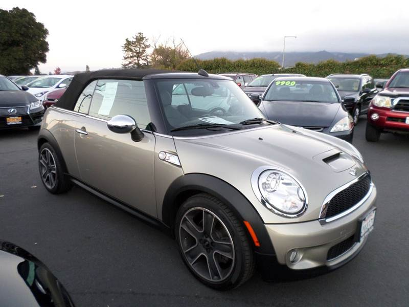 2009 MINI COOPER S 2DR CONVERTIBLE gray low milegae vehiclenew tires 17 inch black star