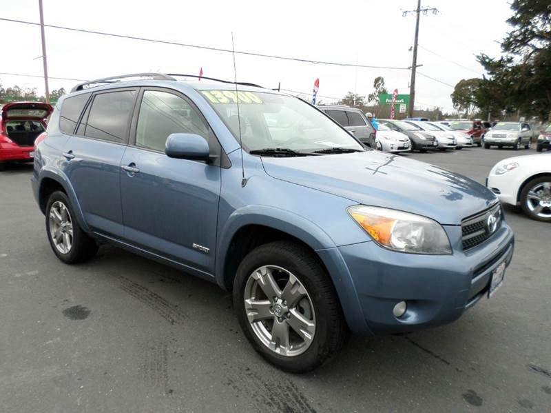 2008 TOYOTA RAV4 SPORT 4X4 4DR SUV V6 blue 4wd only 98988 mileage 2-stage unlocking doors