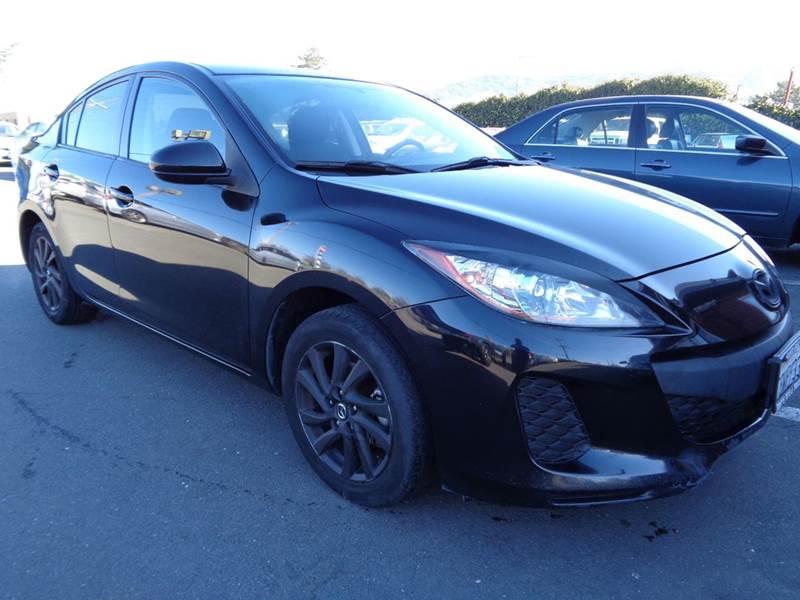 2012 MAZDA MAZDA3 I TOURING 4DR SEDAN 6A black new tires 2-stage unlocking doors abs - 4-w