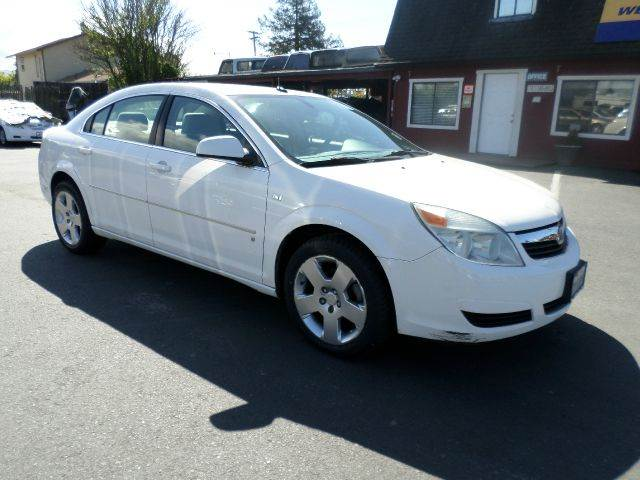 2007 SATURN AURA XE 4DR SEDAN white 1 owner local car 2-stage unlocking - remote abs - 4-wheel