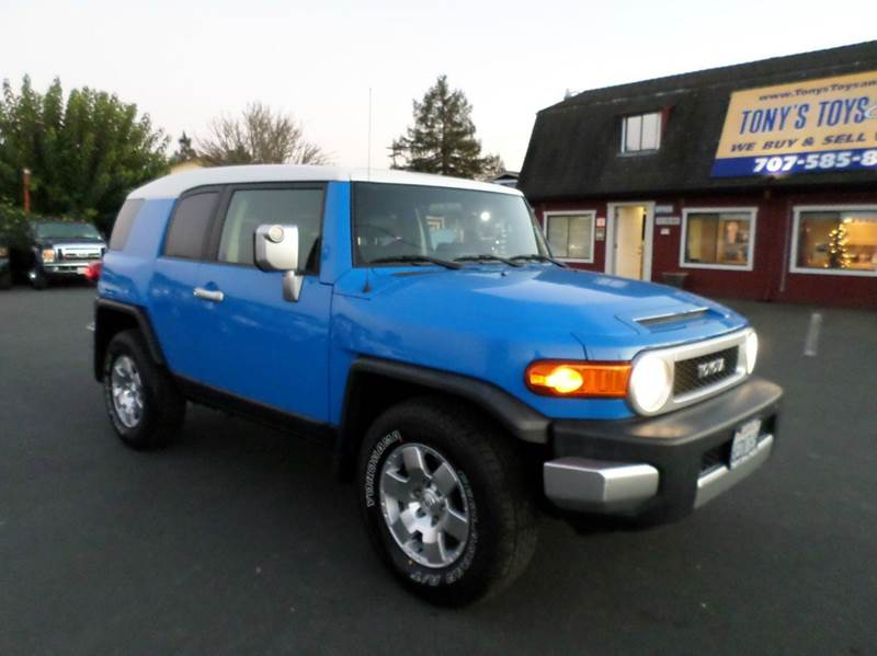 2007 TOYOTA FJ CRUISER BASE 4DR SUV 4L V6 5A blue 2-stage unlocking doors abs - 4-wheel air f