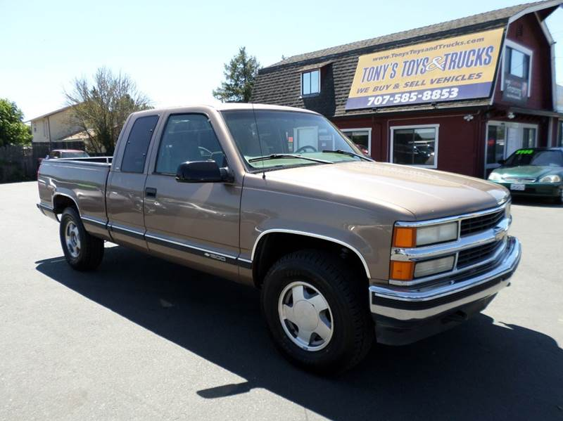 1997 CHEVROLET CK 1500 SERIES K1500 SILVERADO 2DR 4WD EXTENDED brown 4x4 ext cab truck new t